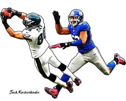 Philadelphia Eagles  Zach Ertz - New York Giants Jon Beason