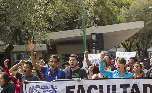 Students Protest in Mexico October 2014