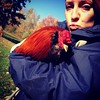 My new bestie. #rooster #mountains #familytime #nepa