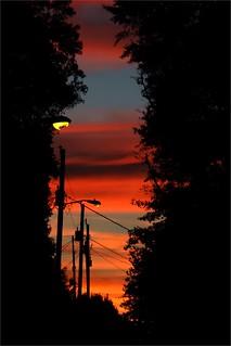 Sunset with Broken Street Lamp / Marietta, GA