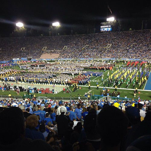 How do we always get monster band night at the Rose Bowl?