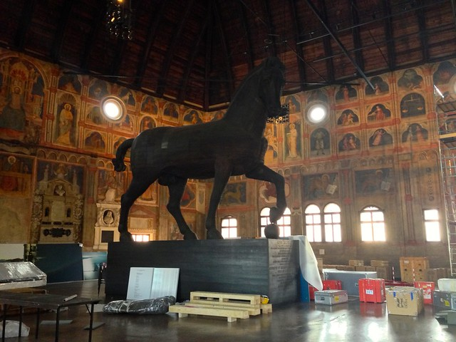 Horse Statue in the Palace of Reason