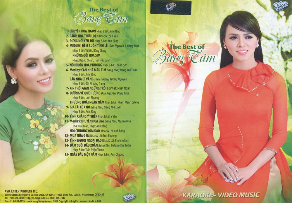 [Ca nhac | DVDrip từ DVD9| AC3.2.0] Asia DVDS39 - The Best Of Băng Tâm (2014) Karaoke & Music Video