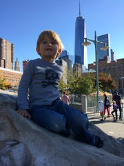 Leighton on the Rock & the Freedom Tower by Guzilla