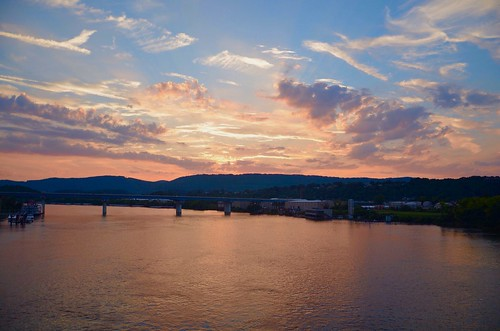 blue sunset red sky orange reflection chattanooga beautiful yellow evening twilight flickr glow tn dusk tennessee rays tennesseeriver whiteclouds northshoredistrict