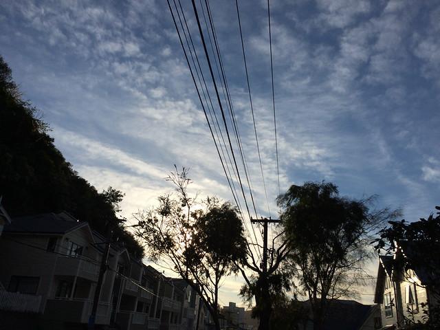 Sunset on Aro Street