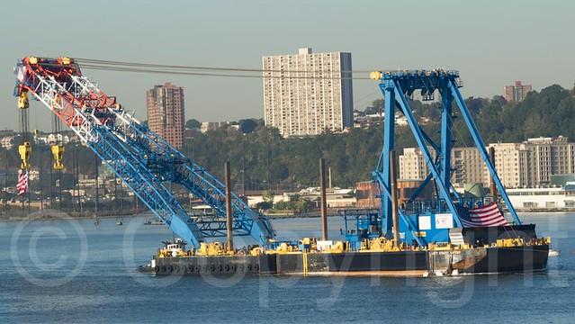 Overhead Crane New Jersey : The i lift ny super crane on hudson river new jersey