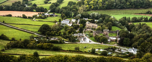 Skenfrith from the hillside