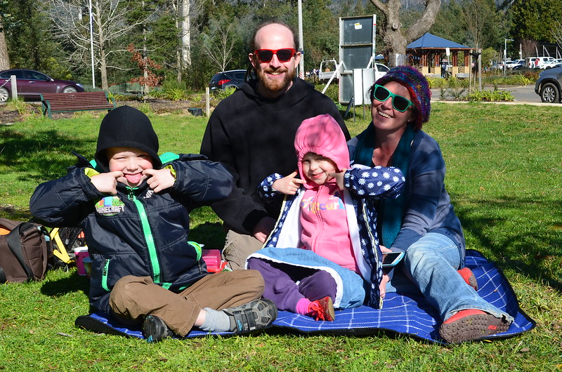 A picnic in the park at Marysville