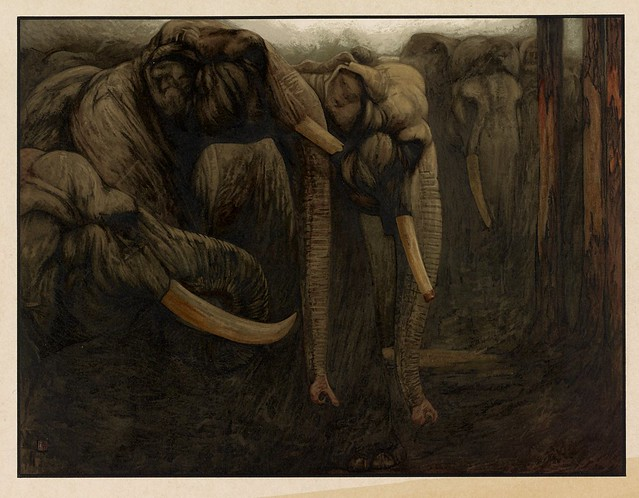 014- La danza de los elefantes-Sixteen illustrations of subjects from Kipling's Jungle Book-1903 -Library of Congress