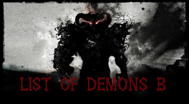 List of Demons B