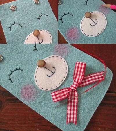 Cách làm bao đựng Điện Thoại bằng vải Nỉ, Dạ | Handmade 3