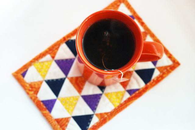 Halloween Triangle Mug Rug