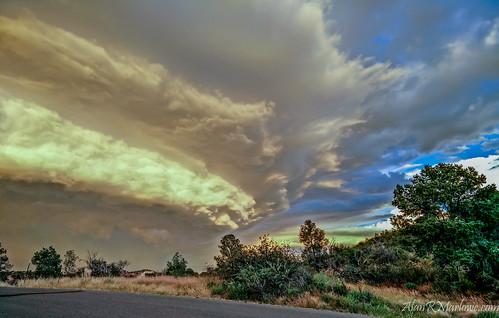 arizona orange storm green fall yellow landscape fineart bluesky shelf marlowe storms prescott violent opo oneplusone shelfcloud alanrmarlowe
