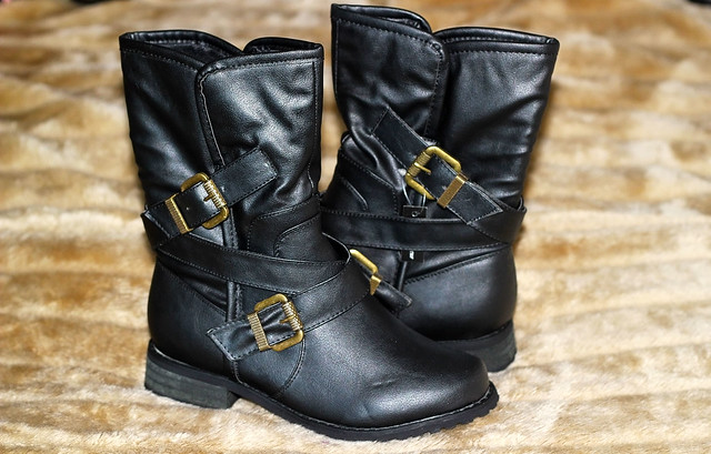 these-wide-fit-black-cross-strap-biker-boots,how to transitioning to autumn winter, boots & sweaters for autumn, sweaters for autumn, boots for autumn, boots for winters, sweaters for winter