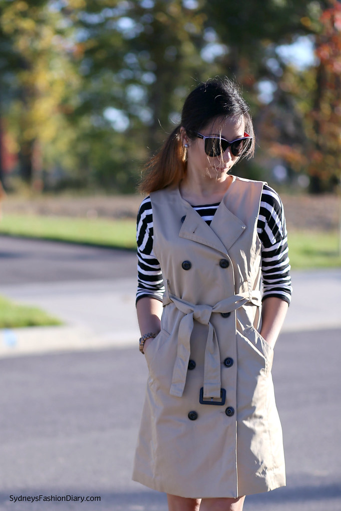 OASAP Sleeveless trench