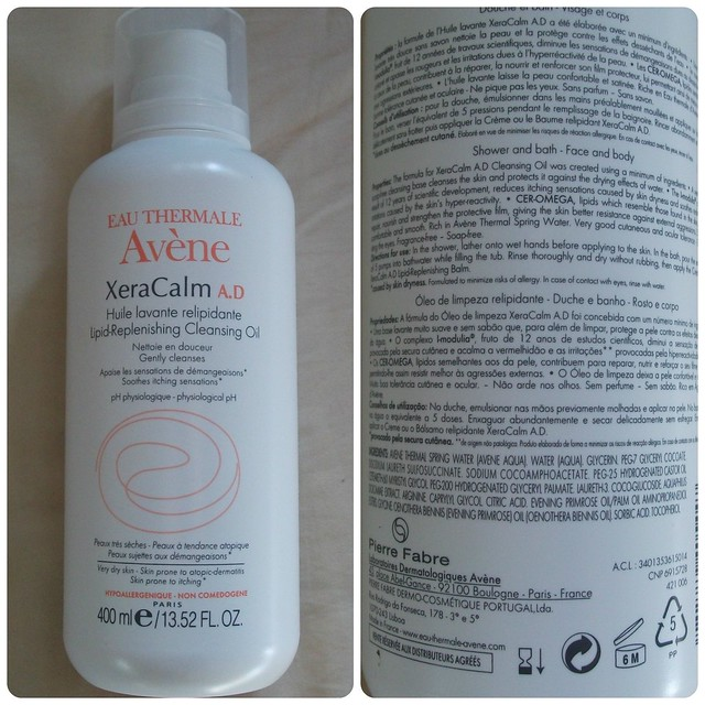 Eau Thermale Avène XeraCalm Lipid Replenishing Cleansing Oil