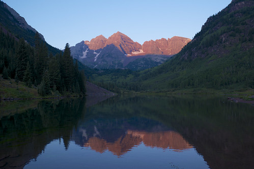 mountain lake sunrise unitedstates co maroonbells