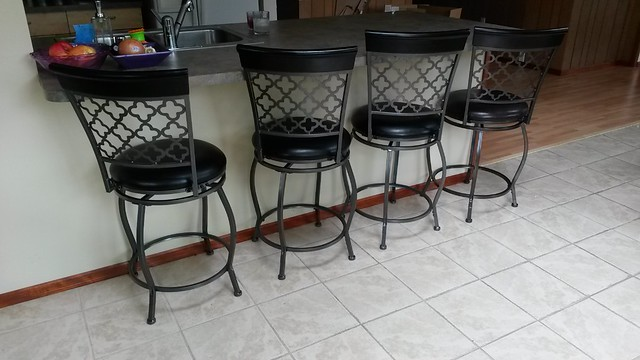 Finally we have barstools. They were very hard to assemble.
