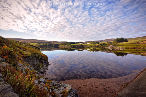 water clouds reflections nikon reservoir isleofman sulby d5200