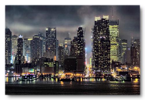 New York City USA - 42nd Street rainy night