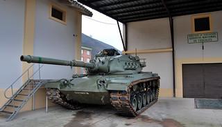 Este tanque M-60 Patton fue usado por los aliados durante la caída del Muro de Berlín.