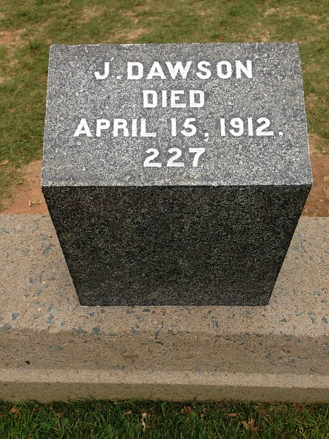 This Titanic grave gets a lot of flowers apparently from people thinking Jack Dawson really existed...