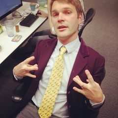 Temporary @nbcreators HQ. Scottie rocking a Sally Giraffe tie and reppin #westside. #losangeles #dtla