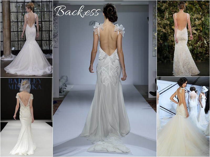 Fall 2015 bridal week trends - backless