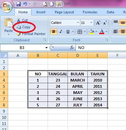 6 langkah cara memindahkan tabel dari excel ke powerpoint