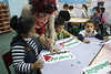 Children in Shireen's Core AM class learn about Palestine through a flag making activity