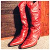 Oct 22 - boots {I was so happy to get these fab RED boots} #photoaday #boots #red #cowboyboots