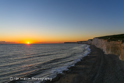sunset sea sky sun beach canon eastbourne canon5d nationaltrust beachyhead birlinggap canon1740f4l canon5dmkiii