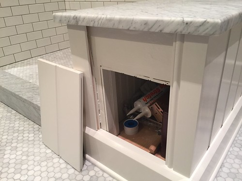 Secret Bathroom Cubby Made Possible By Beadboard Old