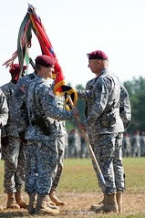 Brig. Gen. Richard D. Clarke assumes command of the 82nd Airborne Division
