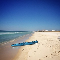 Another incredible day along the Emerald Coast. Took the Hobie out paddling. #panama_city_beach #hobie