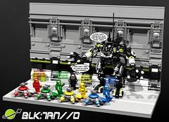 Blacktron ORIGINS Exo-Suit - Hanger - BENNYS