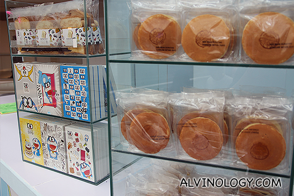 Doraemon chocolate and doriyaki snacks