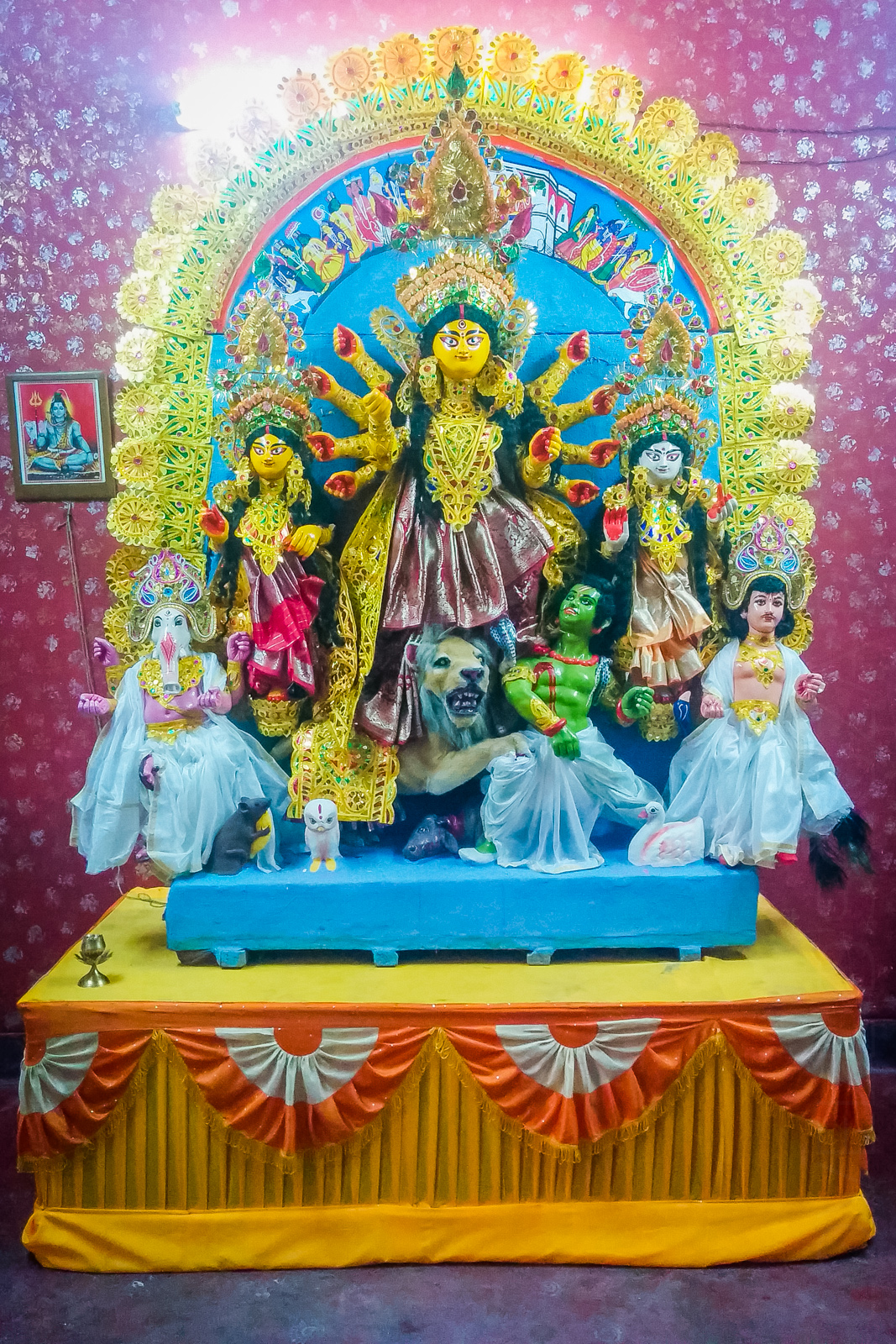 Durga Maa takes the stage