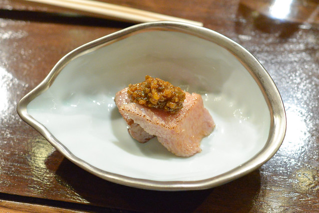 Seared Toro shishito pepper paste