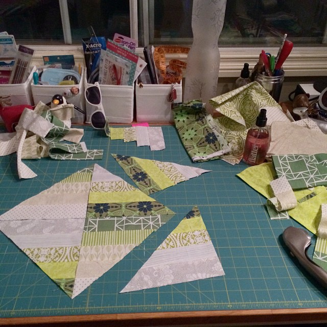 Late night sewing, time to stop. #scraptastictuesday #blendedscraps