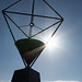 Sun peeking around Aeolian Harp