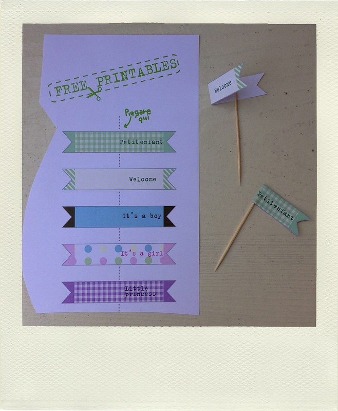 bandierine cupcake tutorial free printable