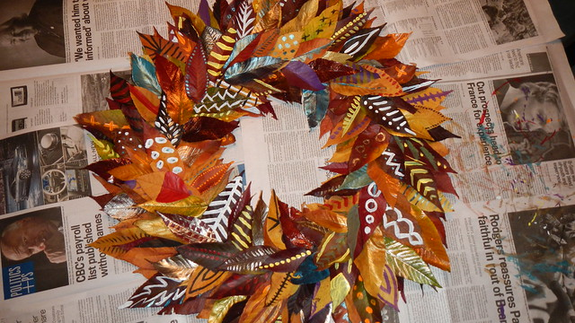 Fall Leaf Wreath 21