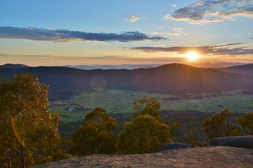 sunrise geotagged dawn australia aus namadgi orroral australiancapitalterritory orroralvalley namadginationalpark orroralgeodeticobservatory lunarlaserrocks geo:lat=3563631077 geo:lon=14893950731 granitetorswalk