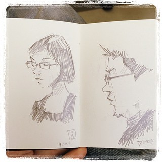 #japon #urbansketch #metro #pentel #kerry #portraits