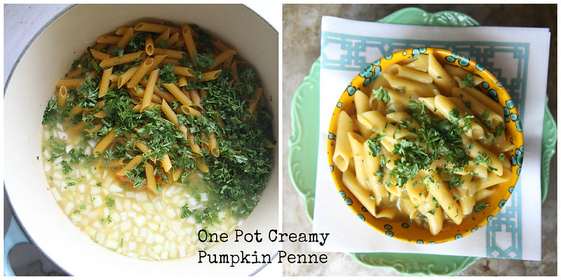 one pot creamy pumpkin penne (vegan and GF)