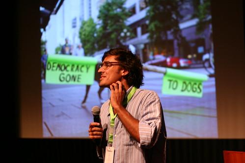 Manuel Arriaga no palco do Cidadania 2.0 2015