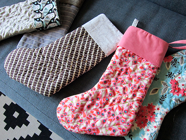 happy, happy quilted Stockings!