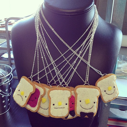 Monday morning #toast necklaces. #migrationgoods